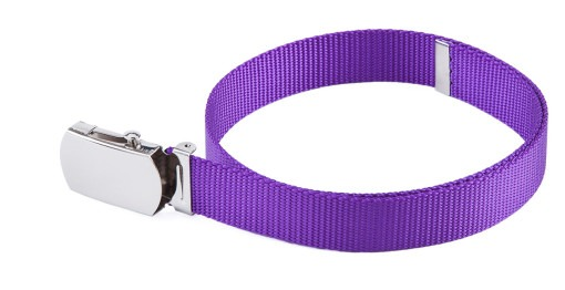 Purple nylon military toddler belts for girls